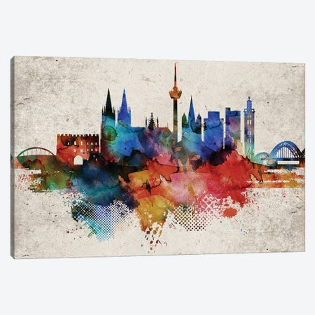 Cologne Abstract Canvas Print #WDA556} by WallDecorAddict Canvas Artwork