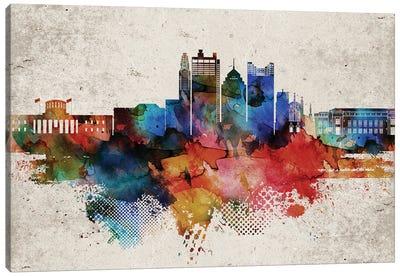 Columbus Abstract Canvas Art Print