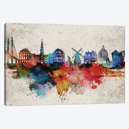 Copenhagen Abstract Canvas Print #WDA558} by WallDecorAddict Art Print