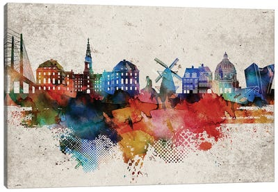 Copenhagen Abstract Canvas Art Print