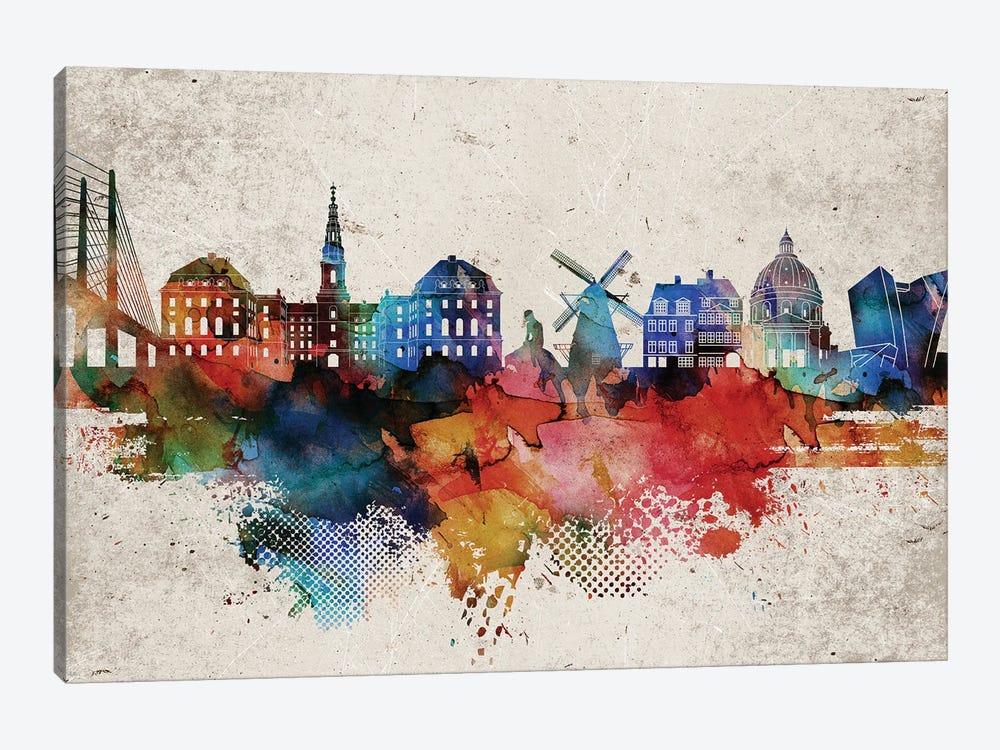 Copenhagen Abstract by WallDecorAddict 1-piece Canvas Artwork