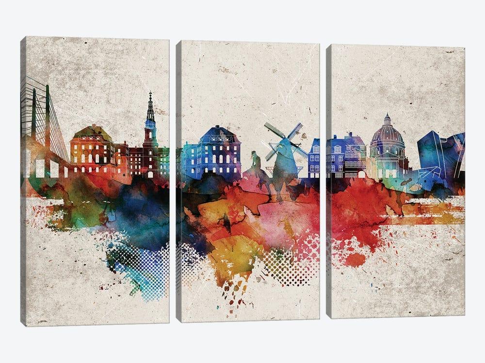 Copenhagen Abstract by WallDecorAddict 3-piece Canvas Wall Art