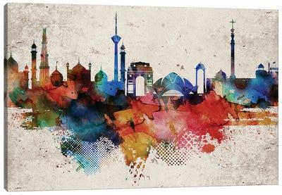 Delhi Abstract Canvas Art Print