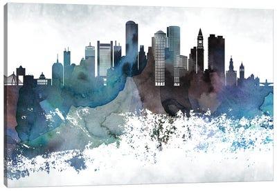Boston Bluishl Skylines Canvas Art Print