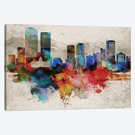 Denver Abstract Canvas Print #WDA560} by WallDecorAddict Canvas Art