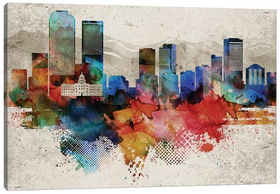 Denver Abstract Canvas Art Print