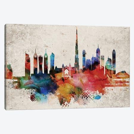 Dubai Abstract Canvas Print #WDA561} by WallDecorAddict Canvas Wall Art