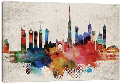 Dubai Abstract Canvas Art Print
