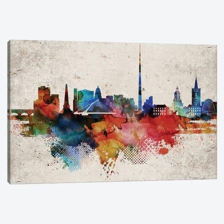 Dublin Abstract Canvas Print #WDA562} by WallDecorAddict Canvas Wall Art