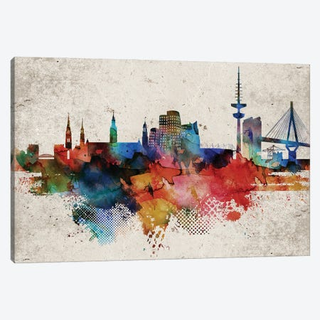 Dusseldorf Abstract Canvas Print #WDA563} by WallDecorAddict Canvas Wall Art