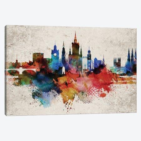 Edinburgh Abstract Skyline Canvas Print #WDA564} by WallDecorAddict Art Print