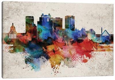 Edmonton Abstract Skyline Canvas Art Print