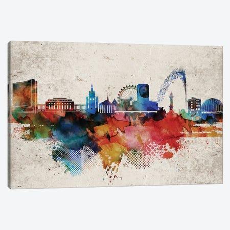 Geneva Abstract Skyline Canvas Print #WDA568} by WallDecorAddict Canvas Art