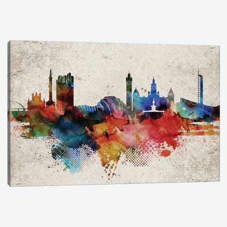 Glasgow Abstract Skyline Canvas Print #WDA569} by WallDecorAddict Canvas Art
