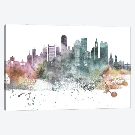 Boston Pastel Skylines Canvas Print #WDA56} by WallDecorAddict Canvas Print