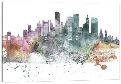 Boston Pastel Skylines Canvas Art Print