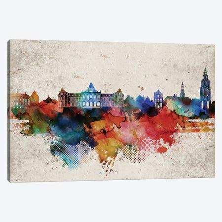Groningen Abstract Skyline Canvas Print #WDA571} by WallDecorAddict Canvas Print