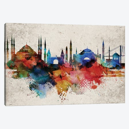 Istanbul Skyline Canvas Print #WDA576} by WallDecorAddict Canvas Artwork