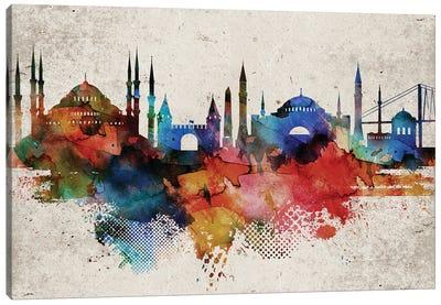Istanbul Skyline Canvas Art Print