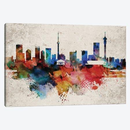 Johannesburg Abstract Skyline Canvas Print #WDA578} by WallDecorAddict Art Print