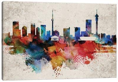 Johannesburg Abstract Skyline Canvas Art Print