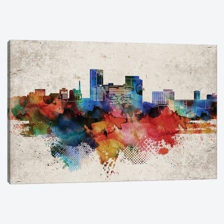 Lexington Abstract Skyline Canvas Print #WDA580} by WallDecorAddict Canvas Art