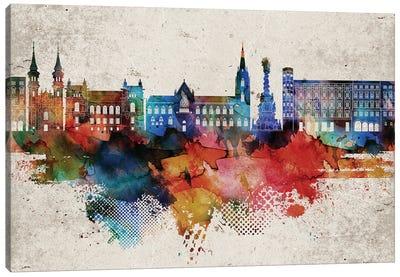 Linz Abstract Skyline Canvas Art Print