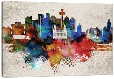 Liverpool Abstract Skyline Canvas Art Print
