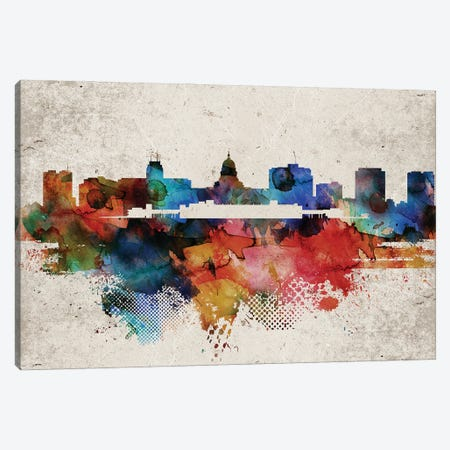 Madison Abstract Skyline Canvas Print #WDA586} by WallDecorAddict Canvas Print