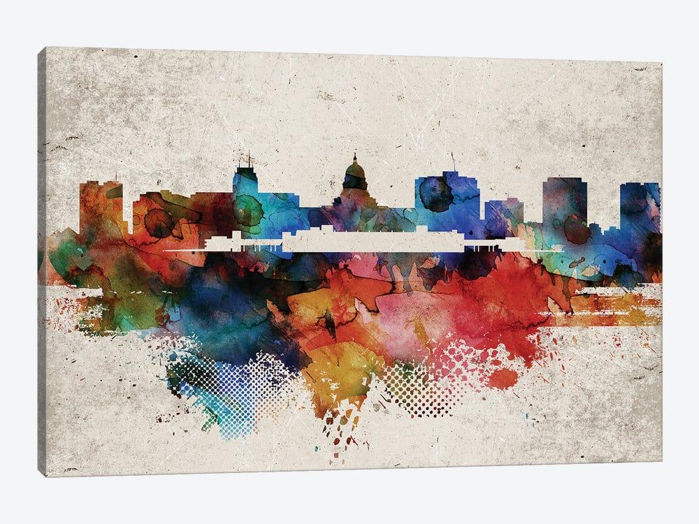 Madison Abstract Skyline by WallDecorAddict 1-piece Canvas Art Print