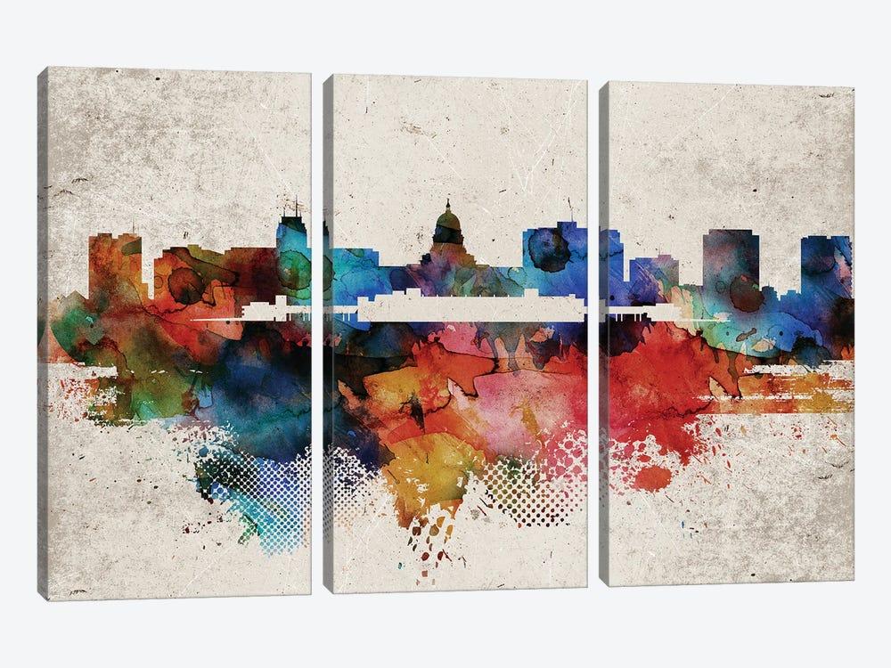 Madison Abstract Skyline by WallDecorAddict 3-piece Canvas Art Print