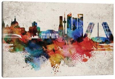 Madrid Abstract Skyline Canvas Art Print