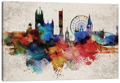 Manchester Abstract Skyline Canvas Art Print