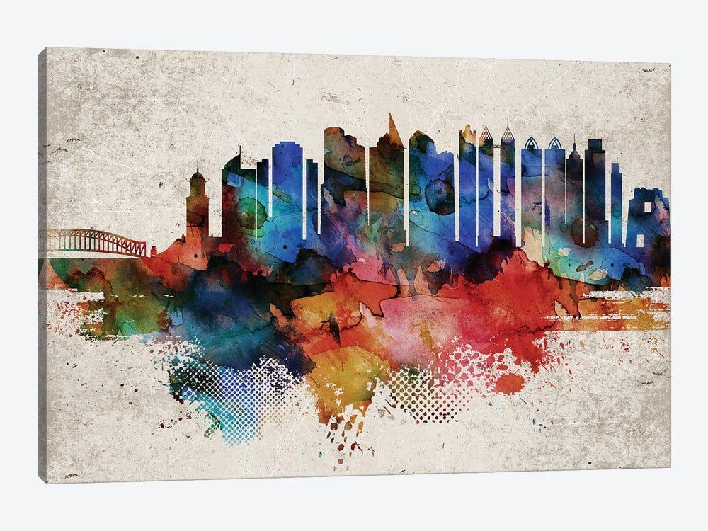 Manila Abstract Skyline by WallDecorAddict 1-piece Canvas Art