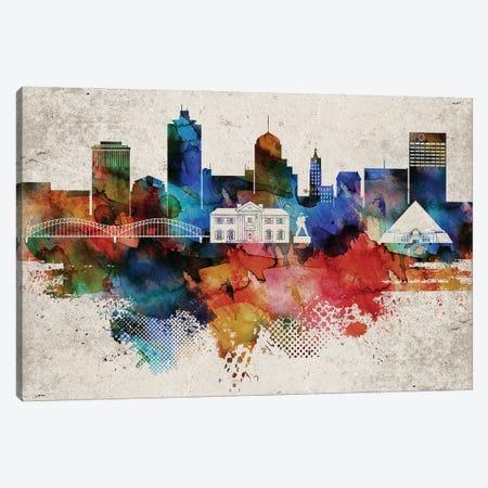 Memphis Abstract Skyline Canvas Print #WDA590} by WallDecorAddict Art Print