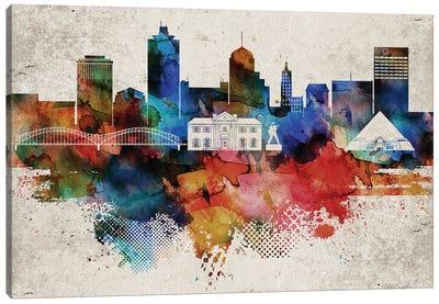 Memphis Abstract Skyline Canvas Art Print