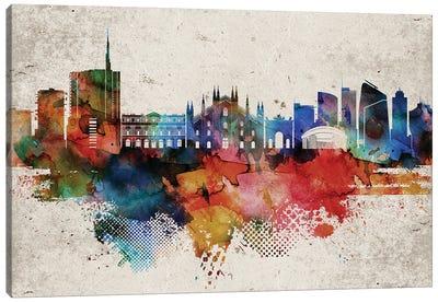 Milan Abstract Skyline Canvas Art Print