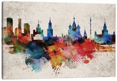 Moscow Abstract Skyline Canvas Art Print