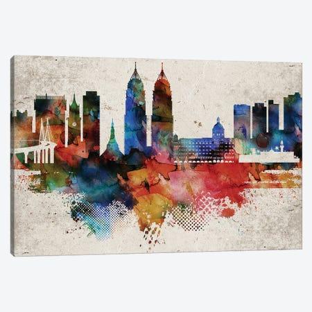 Mumbai Abstract Skyline Canvas Print #WDA594} by WallDecorAddict Canvas Art