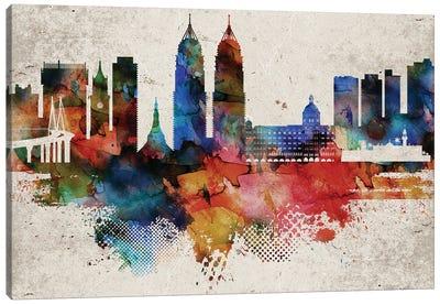 Mumbai Abstract Skyline Canvas Art Print