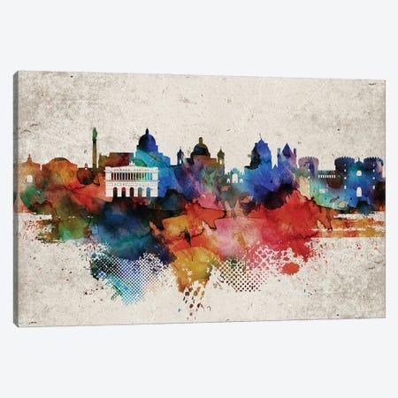 Naples Abstract Skyline Canvas Print #WDA596} by WallDecorAddict Canvas Artwork