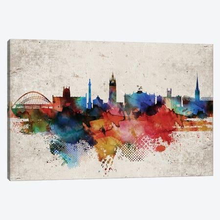 Newcastle Abstract Skyline Canvas Print #WDA597} by WallDecorAddict Canvas Art