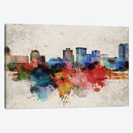 Norfolk Abstract Skyline Canvas Print #WDA598} by WallDecorAddict Art Print