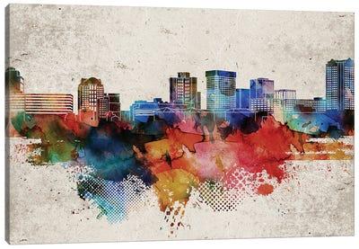 Norfolk Abstract Skyline Canvas Art Print