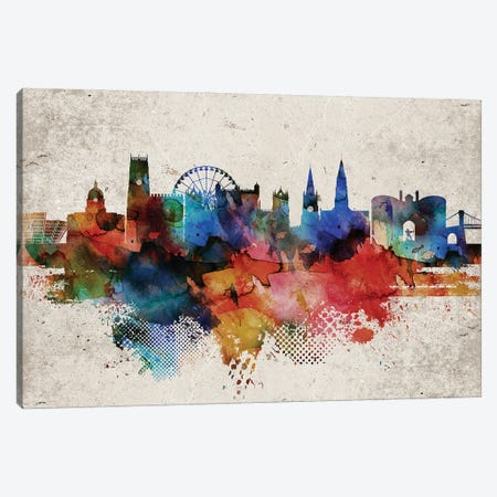 Nottingham Abstract Skyline Canvas Print #WDA599} by WallDecorAddict Canvas Art Print