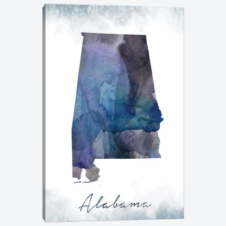 Alabama State Bluish Canvas Print #WDA5} by WallDecorAddict Canvas Print