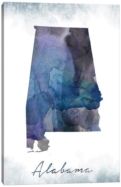 Alabama State Bluish Canvas Art Print