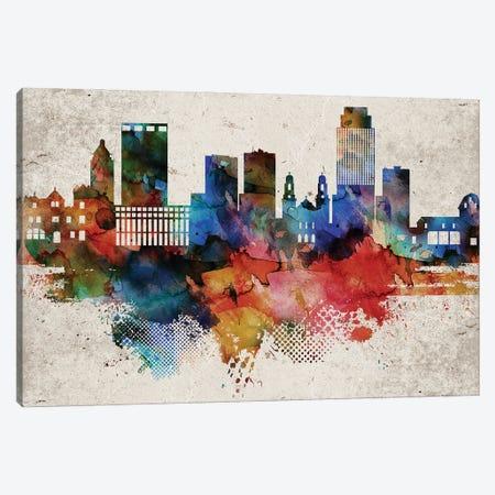 Omaha Abstract Skyline Canvas Print #WDA600} by WallDecorAddict Art Print