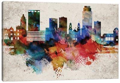 Omaha Abstract Skyline Canvas Art Print