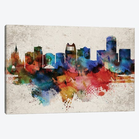 Orlando Abstract Skyline Canvas Print #WDA602} by WallDecorAddict Canvas Print